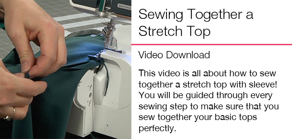 Sewing Together a Stretch Top