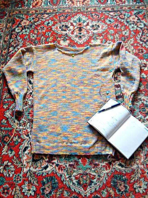 свитер, первая попытка, буду распускать | sweater, 1st draft, will re-knit