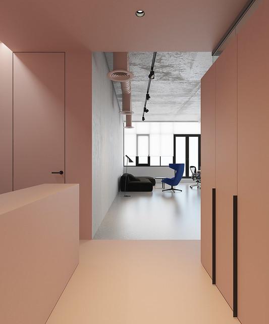 Pink office design in Ukraine by Emil Dervish Sundeno_01
