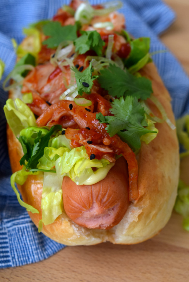 Kogi Barbecue Inspired Korean Hotdogs | www.rachelphipps.com @rachelphipps