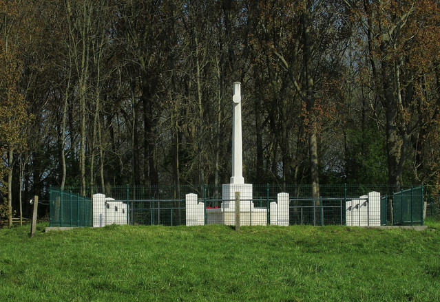 Royal Engineers Grave, Railway Wood, Ypres, From Access Road