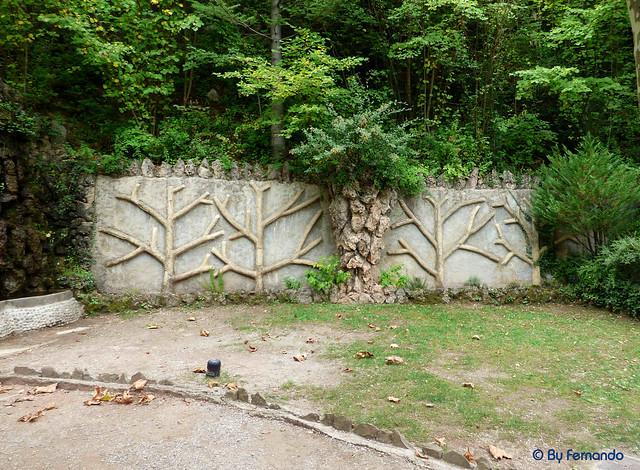 Jardins Artigas (La Pobla de Llillet) -06- La Cascada 02- Mural de naturaleza (12-10-2016
