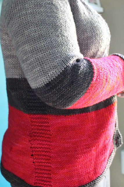 Colorblocked boyfriend sweater