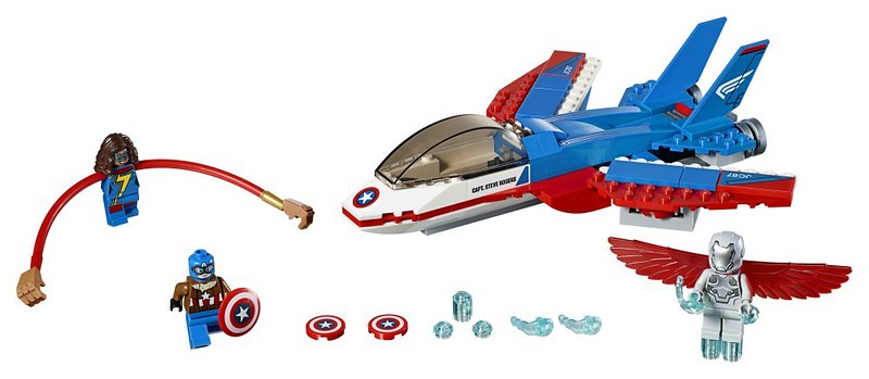 LEGO Marvel Super Heroes - Captain America Jet Pursuit (76076)