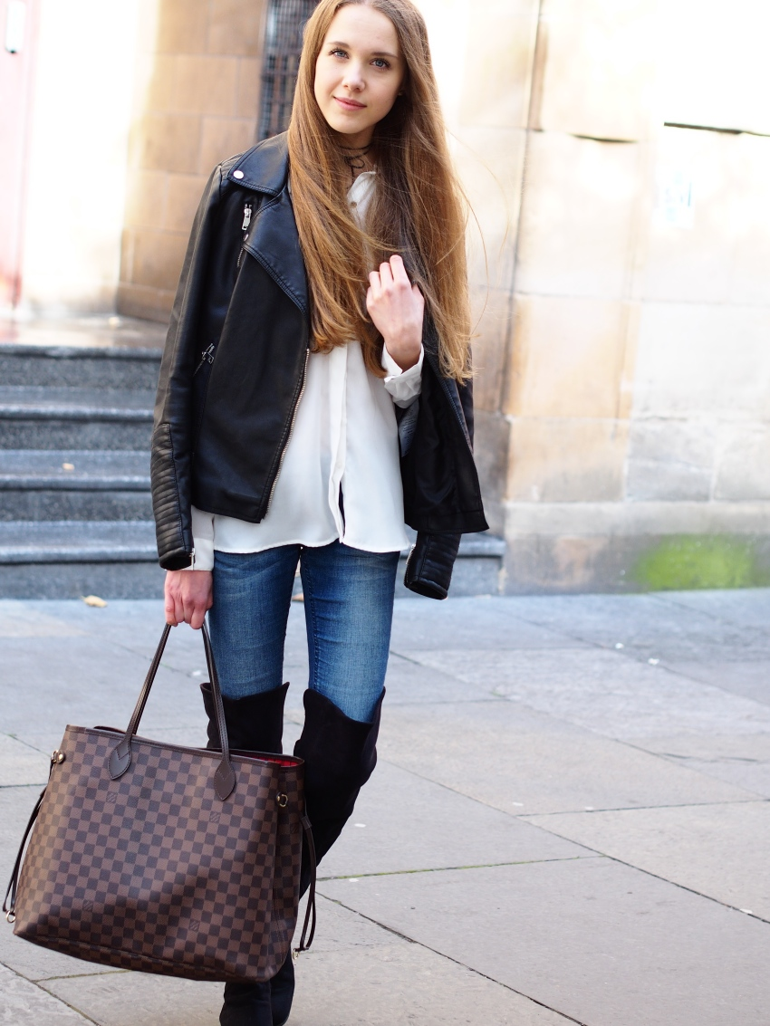 Autumn outfit with over the knee boots