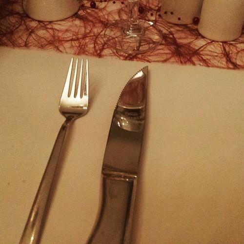 Die Steakmesser in der Stobbermühle sind eine Ansage.