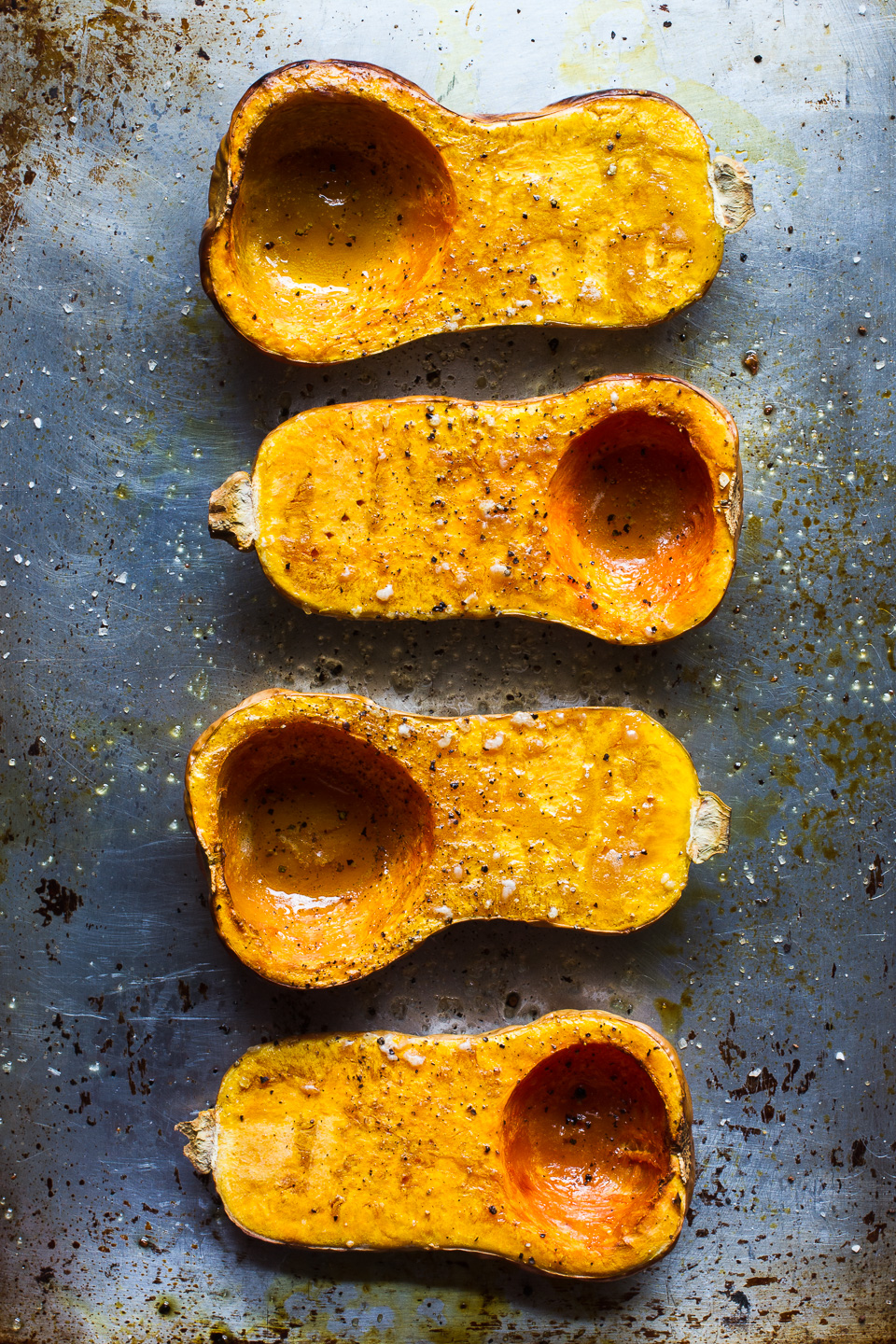 Roast Butternut Squash with Tahini Yogurt and Za'atar