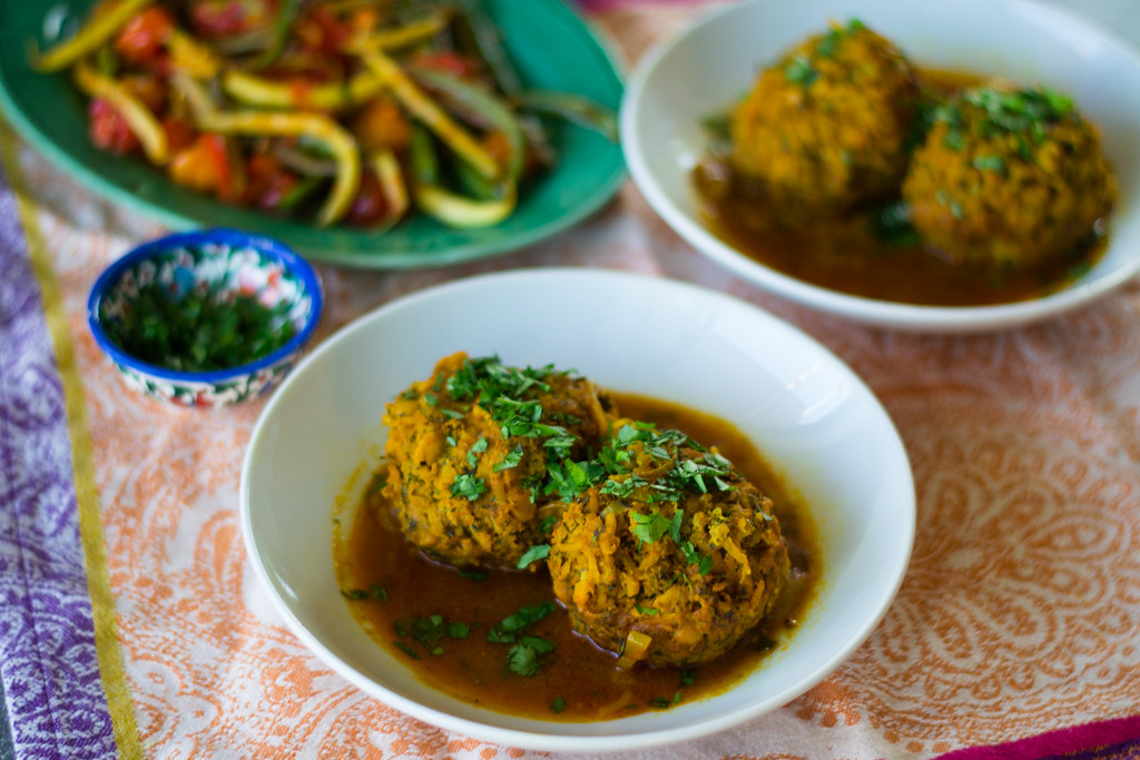 Koofteh (Persian Meatballs) in a Tomato Turmeric Broth