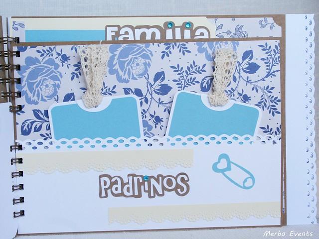 Libro de firmas bautizo niño vintage www.merboevents.com