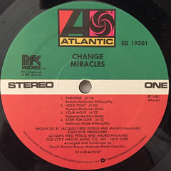 CHANGE:MIRACLES(LABEL SIDE-A)