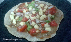 roti pizza recipe step 2