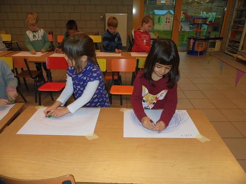 Schrijfdans kleurenboog - Kandinsky