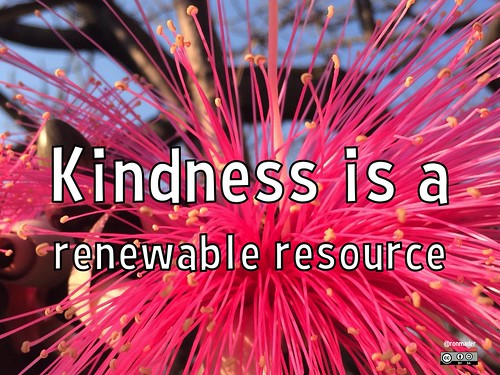 Translating: Kindness is a renewable resource