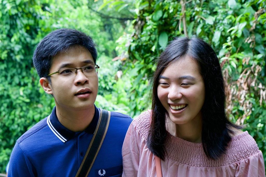 Joshua & Tiffany, halfway to Mount Faber.