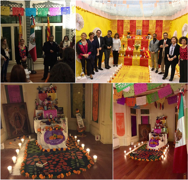 Altar de Todos los Santos en el Consulado de México