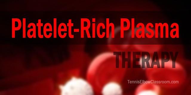 Platelet Rich Plasma Therapy Tennis Elbow