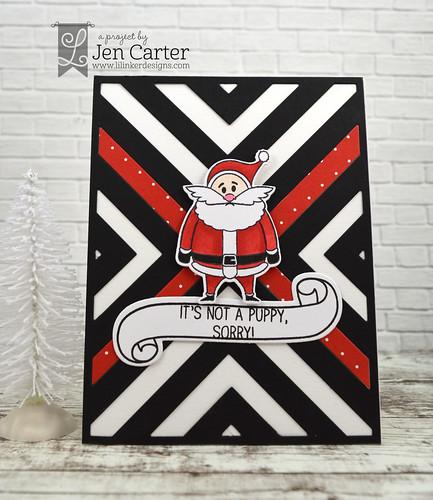 Jen Carter Moody Santa Puppy 4 wm