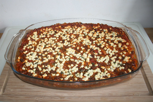 49 - Greek ground meat casserole - Finished baking / Griechischer Hackauflauf - Fertig gebacken