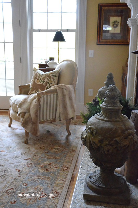 Christmas Decor - Great Room - Pottery Barn Pillow - Housepitality Designs