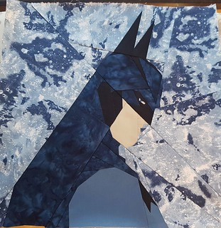 Paper pieced BATMAN. Pattern on fandominstitches. Pieced by Hannah Hughes