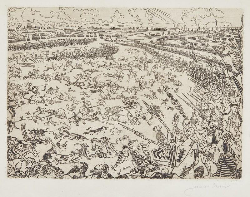 James Ensor - Battle of the Golden Spurs, 1895