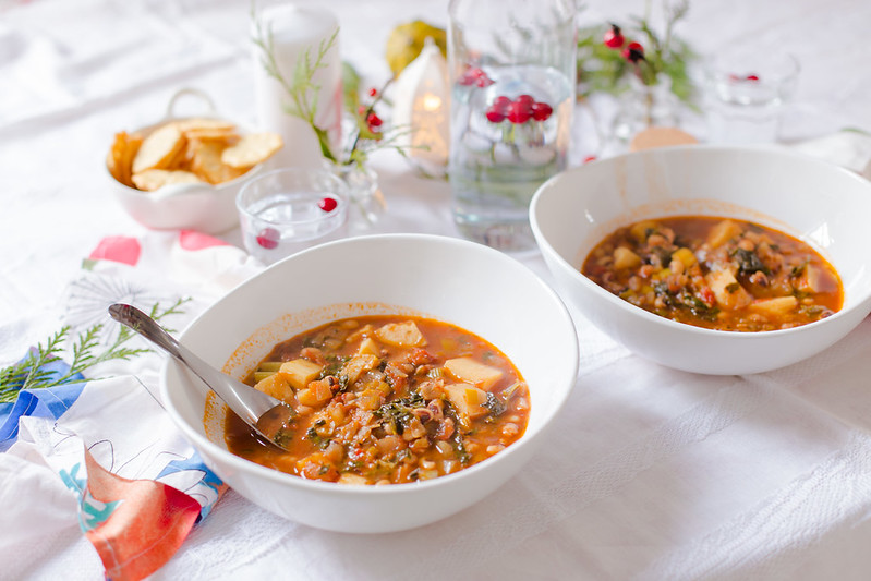 Black-Eyed Peas, Sweet Potato and Kale Soup