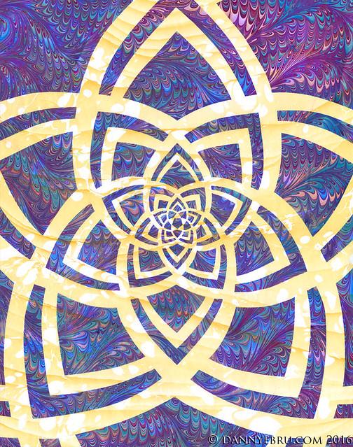 Ebru Art - Geometric Mandala