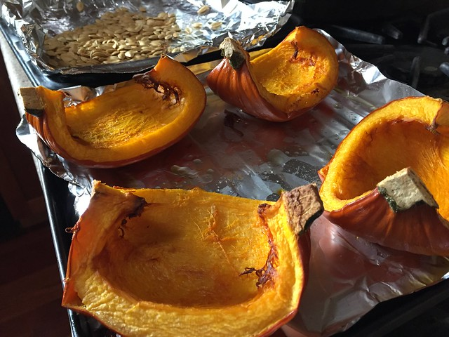Roasted pumpkin (and seeds)
