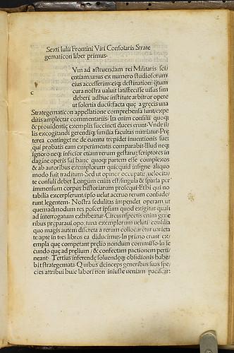 Frontinus, Sextus Julius: Strategematicon liber - Title incipit