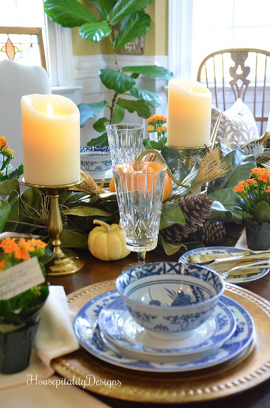 Fall Tablescape - Thanksgiving Tablescape - Housepitality Designs