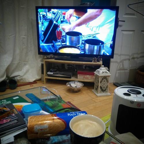 Watching MasterChef Australia S8E46 #latte #coffee ☕ #telly #tv