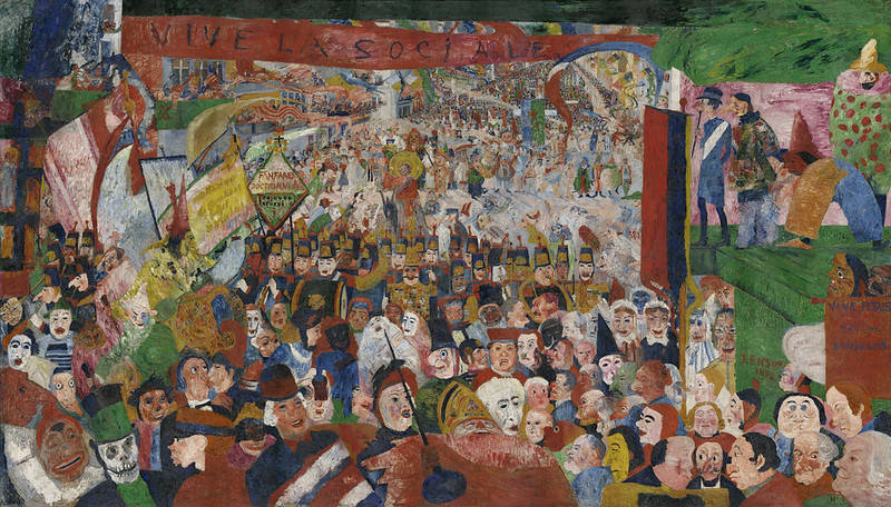 James Ensor - Christ's Entry into Brussels in 1889, 1889:90