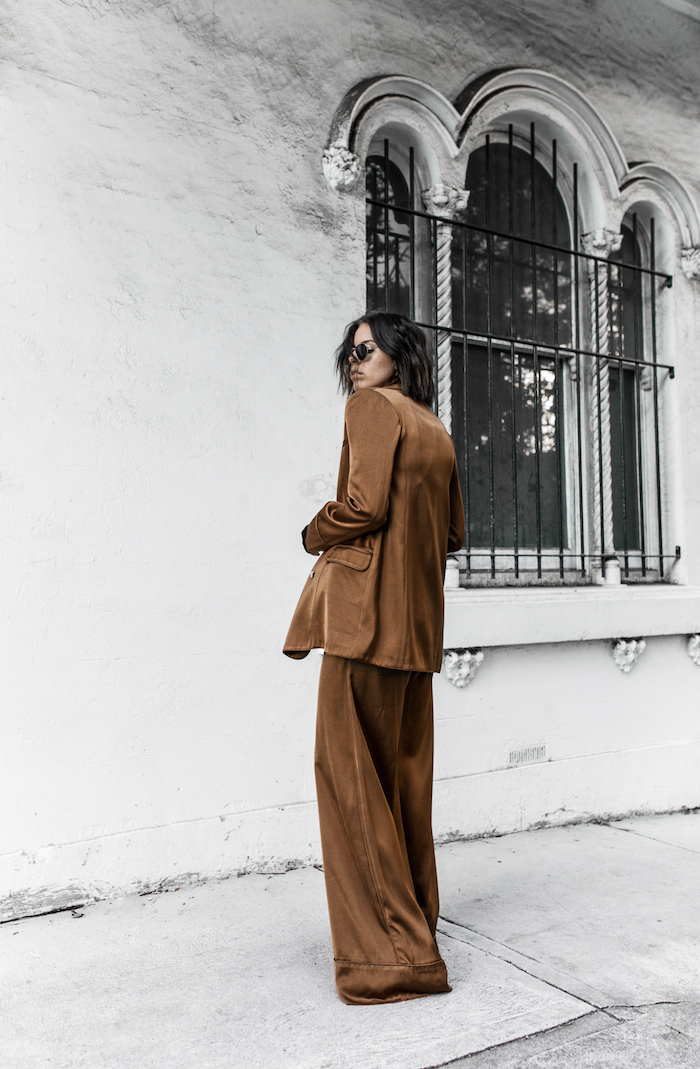 tan suit zimmermann fashion blogger street style inspo neutrals black modern legacy YSL chain bag (2 of 5)