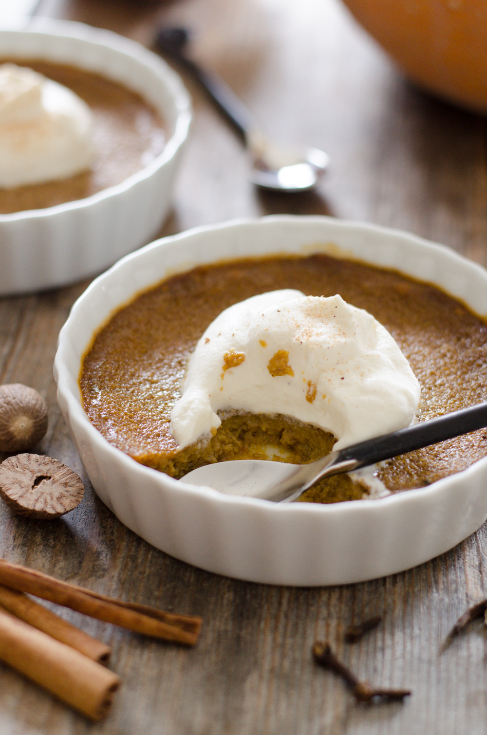 Baked Pumpkin Custard | Buttered Side Up