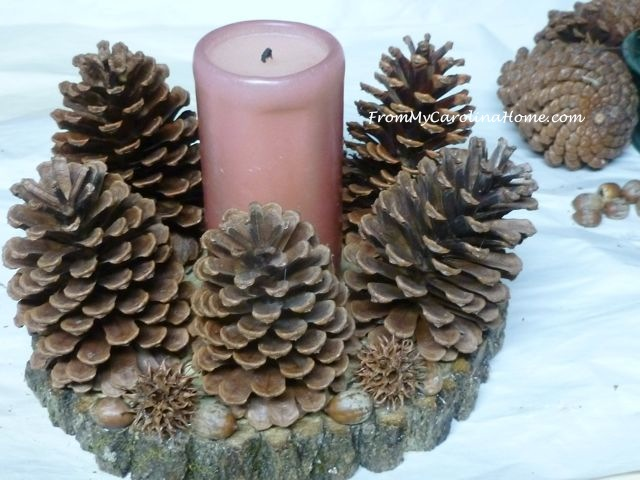 Pine Cone Ring Candle Holder ~ From My Carolina Home