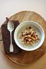 Roasted cauliflower and mushroom soup