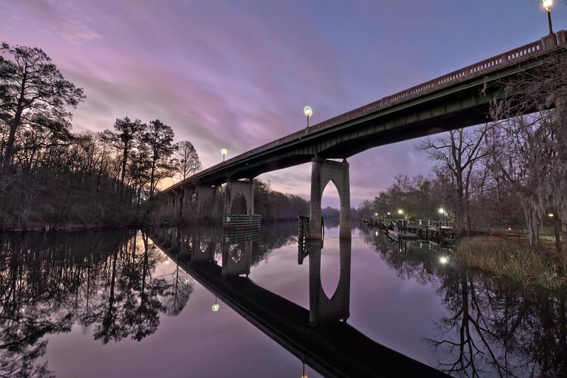 US 501 bridge, Waccamaw River, Riverwalk, Conway, Horry County, South Carolina 2