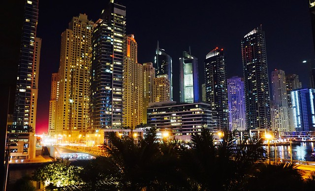 Dubai Marina Night