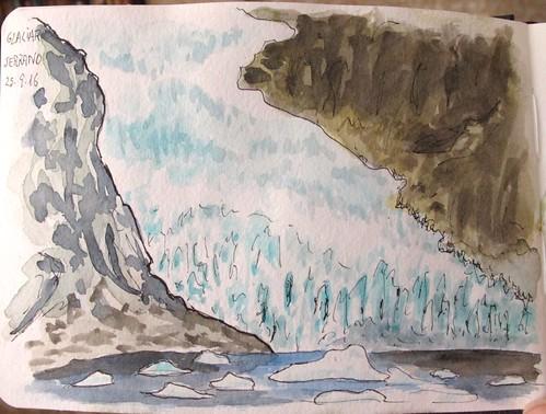 Glaciar Serrano, frontal. Chile
