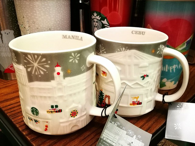 Starbucks Silver Relief Manila and Cebu Mugs