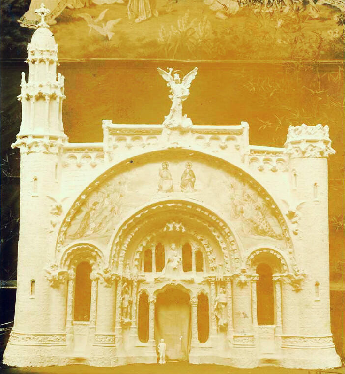 Maquette du premier niveau de l'église du Sacré Coeur de Tibidabo à Barcelone.