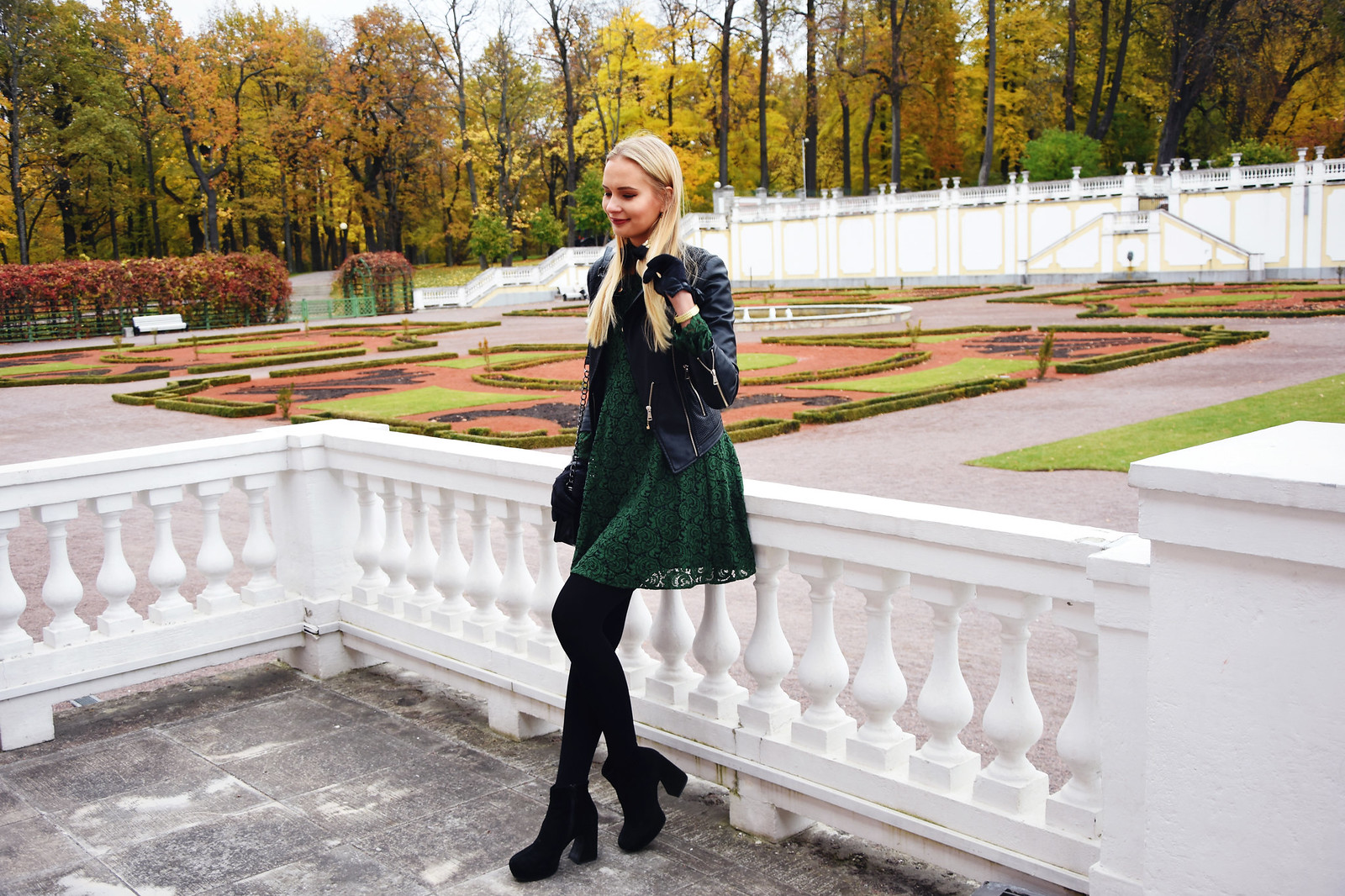 Styling a green lace dress