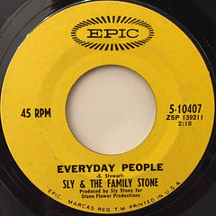 SLY & THE FAMILY STONE:EVERYDAY PEOPLE(LABEL SIDE-A)