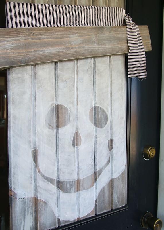 Dry Brush White Paint Halloween Face