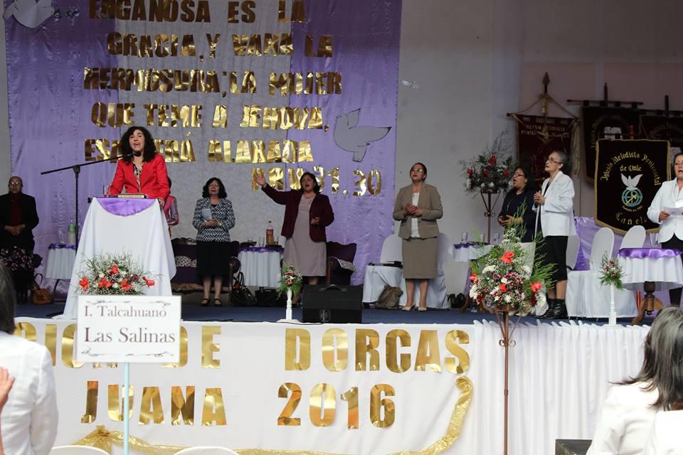 Pastora Elisette Torres da un Tema en Evento de Dorcas Santa  Juana.