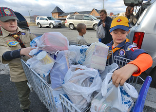 Boy Scouting for Food Drive