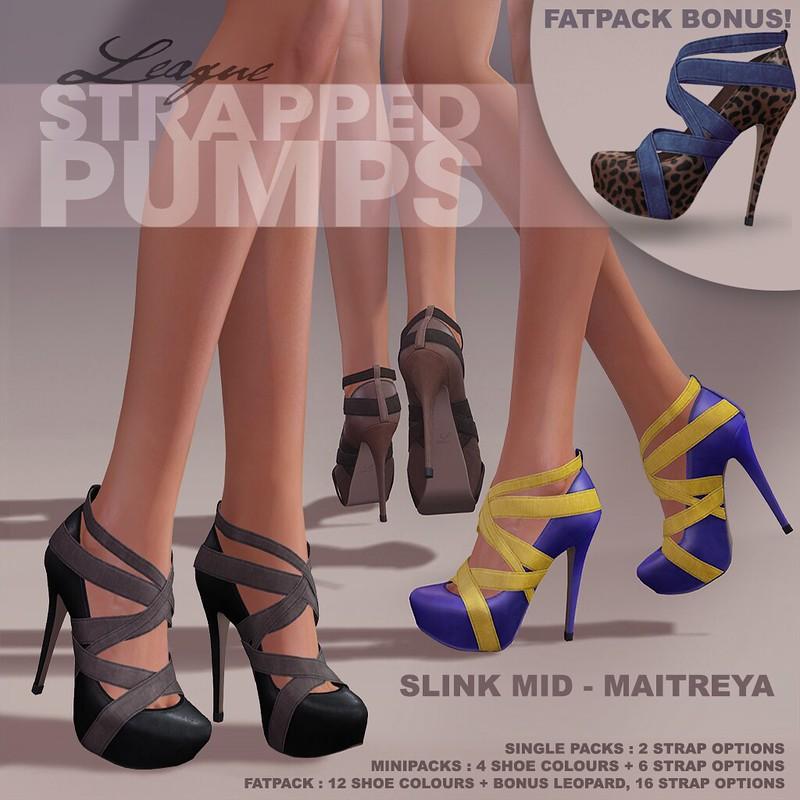 League Strapped Pumps