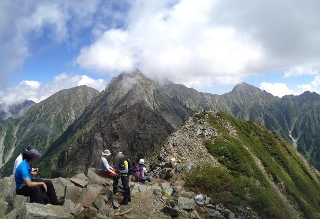 西穂高岳 山頂からジャンダルム