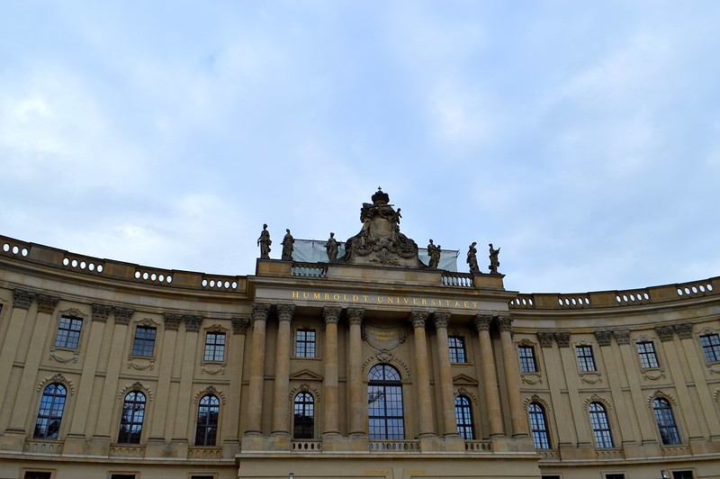 this is a picture of the humboldt university building on bebelplatz