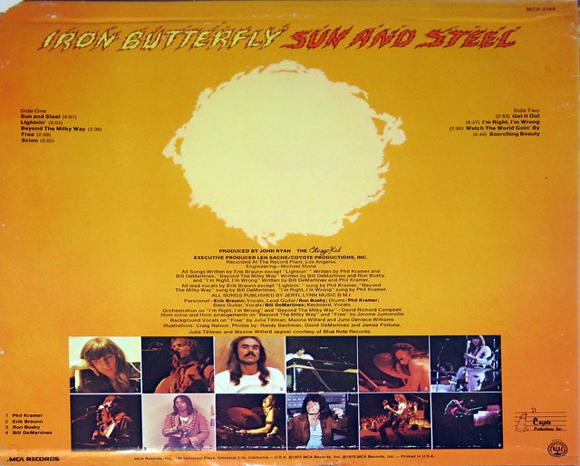 "Iron Butterfly - Sun and Steel 12"" vinyl LP"